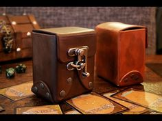 How To Make A Leather Deck Box! - YouTube