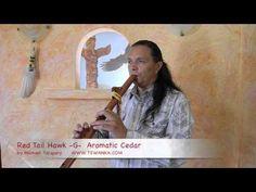 Indiaanse fluit Red Tail Hawk ceder