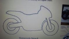 Motorbike template