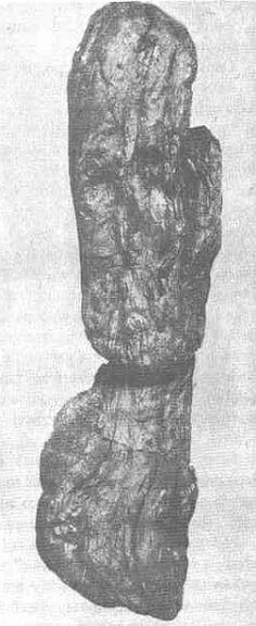 Znalezisko z rzeki Warty w Dąbrówce k. Radomska //  ancient Slavic wooden sculpture (idol?) unearthed in Dąbrówka, Poland.