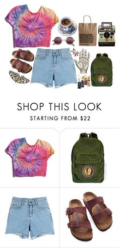 """Hippie vibezzz 😌"" by xeptum ❤ liked on Polyvore featuring Birkenstock"