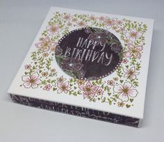 Card created using Foiled Floral Boxes, designed by Julie Hickey www.craftworkcards.com