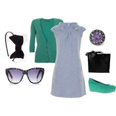 """""""Green and purple"""" by jossiebristow on Polyvore"""