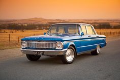 Blue Ford XP at Sunset by John Jovic -- Doesn't get much more American than this #AmericanMade