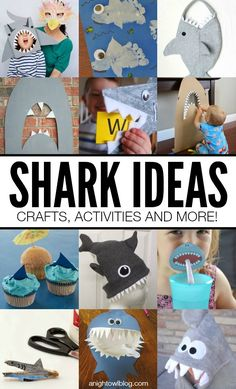 Having a shark party or celebrating Shark Week like we are? Then check out these Shark Ideas - Crafts, Activities and More! Shark Week, Art For Kids, Crafts For Kids, Diy Crafts, Craft Activities, Elderly Activities, Dementia Activities, Physical Activities, Physical Education