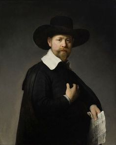 REMBRANDT van Rijn,  Dutch Baroque Era Painter and Engraver (1606-1669)_Portrait of Marten Looten c.1632