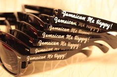 Jamaica/Jamaican Wedding/Vacation Sunglasses for Beach or Wedding Favors