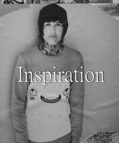Oliver Sykes  al the Bring Me The Horizon band members