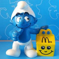 McDonalds Happy Meal Smurf