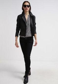 Cigno nero vanessa giacca di pelle black nero  ad Euro 262.50 in #Cigno nero #Donna promo abbigliamento giacche