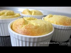 Low Carb Baked Ricotta Cheesecake (South Beach Phase 1 Recipe) - Diet Plan 101
