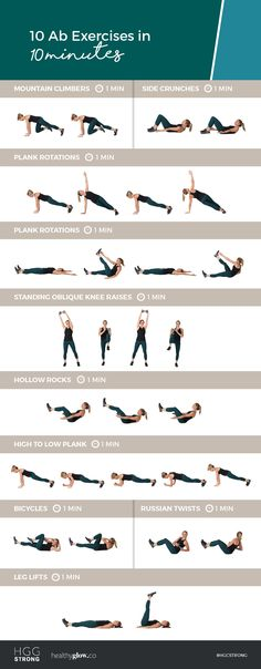 10 Ab Exercises in 10 Minutes! Do this at-home workout for a serious ab burn