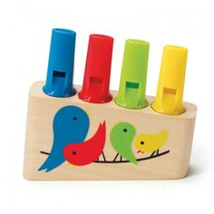 A bright four tube pan flute for playing different tunes.
