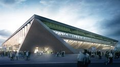 Competition-winning football stadium design for the City of Lausanne.