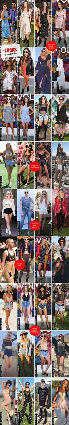 Saiba quais foram os festival looks das celebridades durante o festival de música Coachella