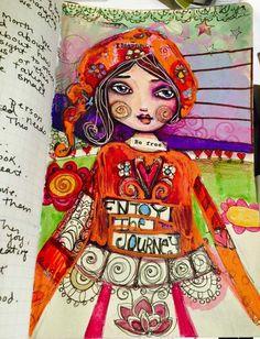 La Petite Gypsy, Art Journal page by Suzi Blu.