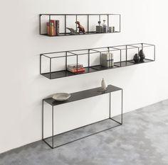 Etagère Slim Irony / L 206 cm Noir cuivré - Zeus