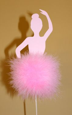 This listing is for one ballerina topiary.   I have many other colors to choose from, including light pink, hot pink, white, lavender, purple, light blue, red, black, royal blue, emerald green, yellow, brown, orange....etc. These ballerina topiaries are the perfect decoration for a shower or birthday party! The tutu is made from soft, fluffy feather, with silver-tipped edges, mounted on a wooden dowel that is paintedto match. Each topiary comes in a painted terracotta pot with matching…