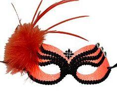 Orange Beatle Masquerade Mask