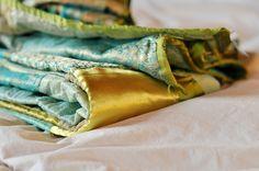 aqua....looks like silk...
