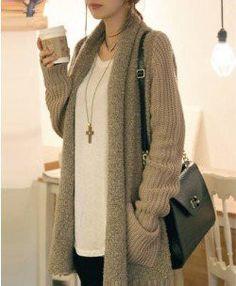 $36.00 | Loose plush knit cardigan sweater