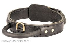 """NOT from a BDSM site but an intriguing concept. A """"leather   agitation collar"""". Presumably for large aggressive dogs."""