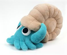 Omanyte Plush by Jellystitch.deviantart.com on @DeviantArt