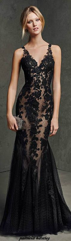 V-neck sex black lace backless mermaid evening prom gown formal dress party dress Elegant Dresses, Pretty Dresses, Sexy Dresses, Prom Dresses, Formal Dresses, Dresses 2016, Black Tie Dresses, Black Tie Gown, Outfits 2016