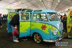 The Mystery Machine van! Seen at the Barrett-Jackson auction.