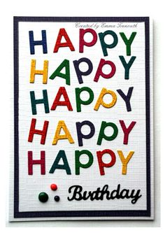 Set of Happy Birthday Banner cards