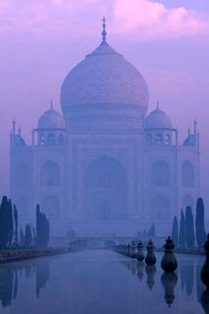 This is exactly how it looked the first time I saw the Taj Mahal at dusk one evening in December.   (Taj-Mahal,India)