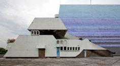 Centro Cultural Miguel Ángel Asturias, Guatemala City. Architect: Eran Recinos. Recinos's idea was for the building to emulate a reclining jaguar.