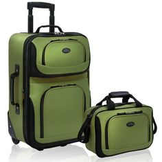 New Trending Luggage: US Traveler Rio Two Piece Expandable Carry-On Luggage Set, Green, One Size. US Traveler Rio Two Piece Expandable Carry-On Luggage Set, Green, One Size  Special Offer: Too low to display  322 Reviews Go anywhere with the Traveler's Choice U.S. Traveler Rio Two Piece Expandable Carry-On Luggage Se. This luggage set is made of luxurious superior 1200D rigid...