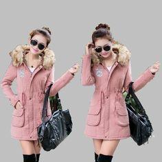 28.00$  Buy here - https://alitems.com/g/1e8d114494b01f4c715516525dc3e8/?i=5&ulp=https%3A%2F%2Fwww.aliexpress.com%2Fitem%2F2016-Winter-Women-Coat-Cashmere-Hooded-Cotton-Coat-Big-Fur-Collar-Fashion-Slim-Cotton-Jacket-Medium%2F32751761011.html - 2016 Winter Women Coat Cashmere Hooded Cotton Coat Big Fur Collar Fashion Slim Cotton Jacket Medium long Large size Jacket AB157