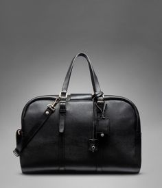 Yves Saint Laurent - MEN's leather travel bag - Ycon Weekend Bag in Black Textured Leather €1,695.00