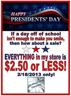 It's About Time for a Presidents' Day Sale! I just got some things for myself.