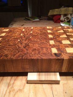 End grain butcher block cutting board by AlaskaHardwodProduct