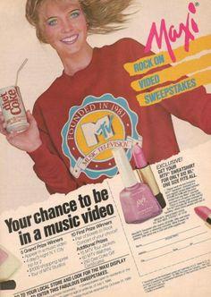 Maxi Cosmetics & MTV ad, 1986