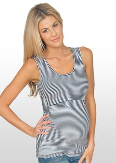 A maternity & breastfeeding singlet top that you just can't live without. Available in thin black & white stripes and made from high quality cotton/spandex. Maternity Sale, Stylish Maternity, Maternity Wear, Maternity Fashion, Maternity Clothing, Maternity Nursing, Breastfeeding Clothes, Nursing Clothes, Nursing Wear