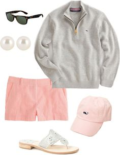 Preppy Casual- not really my style, but cute in a kitschy way Preppy Mode, Preppy Casual, Preppy Style, Style Me, Casual Summer, Preppy Girl, Comfy Casual, Golf Style, Adrette Outfits