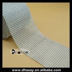 Alibaba supplier silver plastic rhinestone mesh trimming with gold 5 rolls sparkling silver diamond mesh wrap rhinestone ribbon wedding decor view 5 rolls sparkling junglespirit Choice Image