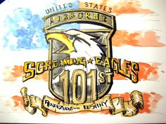 Military Series:  U.S. Army 101st Airborne Screaming Eagles Time Lapse Drawing