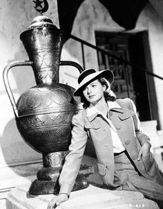 Casablanca: Medium publicity shot of Ingrid Bergman as Ilsa Lund, wearing hat.