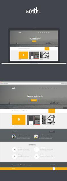 North by Arian Selimaj, via Behance - Flat Web Design Inspiration