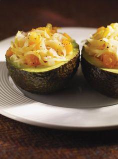 Recette de Ricardo: Avocat et endive vinaigrette. Recette rapide à préparer. Servir en entrée ou comme amuse-gueule. Ingrédients: endives, avocats, orange.