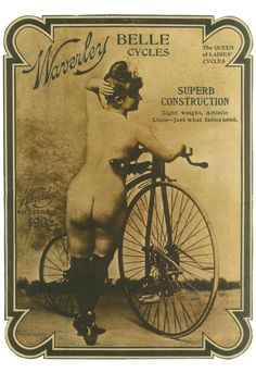 1900's Waverley Belle Cycle Bicycle Velocipede Poster. Photographer & model, both ahead of their time. Classic!