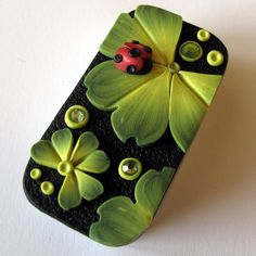 Ladybug Needle Case Slide Top Tin by Claybykim on Etsy