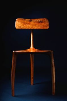 Jack Draper; English Elm '3 Legs' Chair, 2010s.