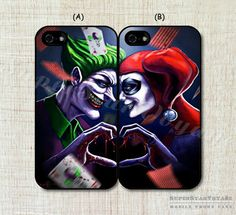 Joker and Harley Quinn Couple Phone Case for by SuperStarVoyage