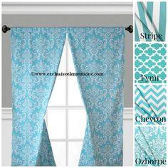 Aqua Blue Curtain Panels Modern Geometric By Exclusiveelements 2500 Esty I Bought Mine